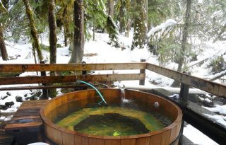 bagby hot springs tub winter