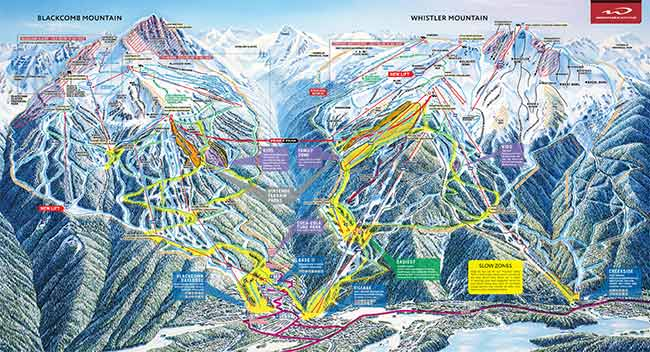 Whistler Blackcomb Review Ski Map Image