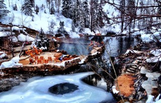 Strawberry Park Hot Springs Winter