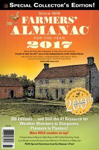 farmers' almanac 2017 cover