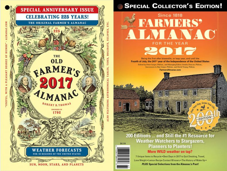 Farmers know best almanac winter weather predictions 2017 for Farmer s almanac 2017 winter forecast