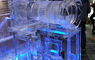 Ice Sculpture of Camera from WSSF 2014
