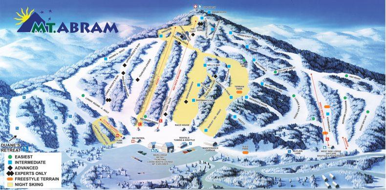mt abram trail map