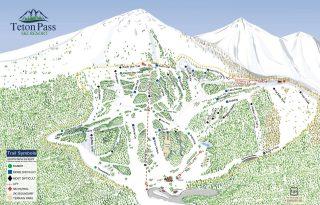 teton pass trail map
