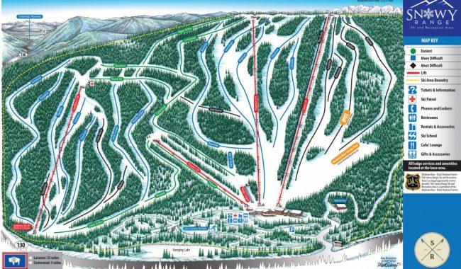 snowy range wyoming trail map